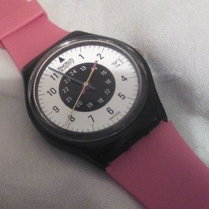 Vintage used swatch watch gb403 chrono tech